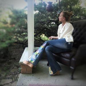 Andrea Durham Designs Jeans - Bell Bottom jeans handmade size 1